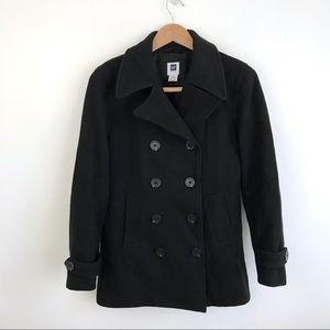 Black GAP Factory Wool Coat
